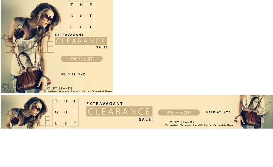 Конкурсная заявка №31 для Banner Ad Design for The Outlet Fashion Company