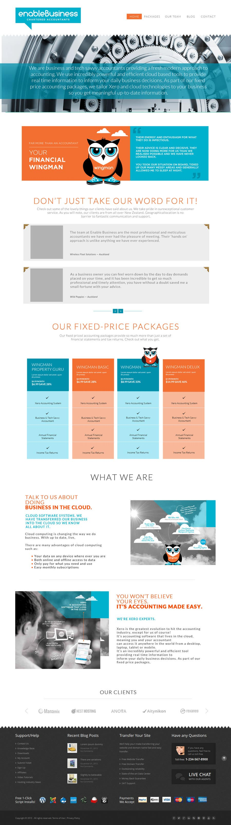 #3 for Design a Website home page and our people page Mockup by preside