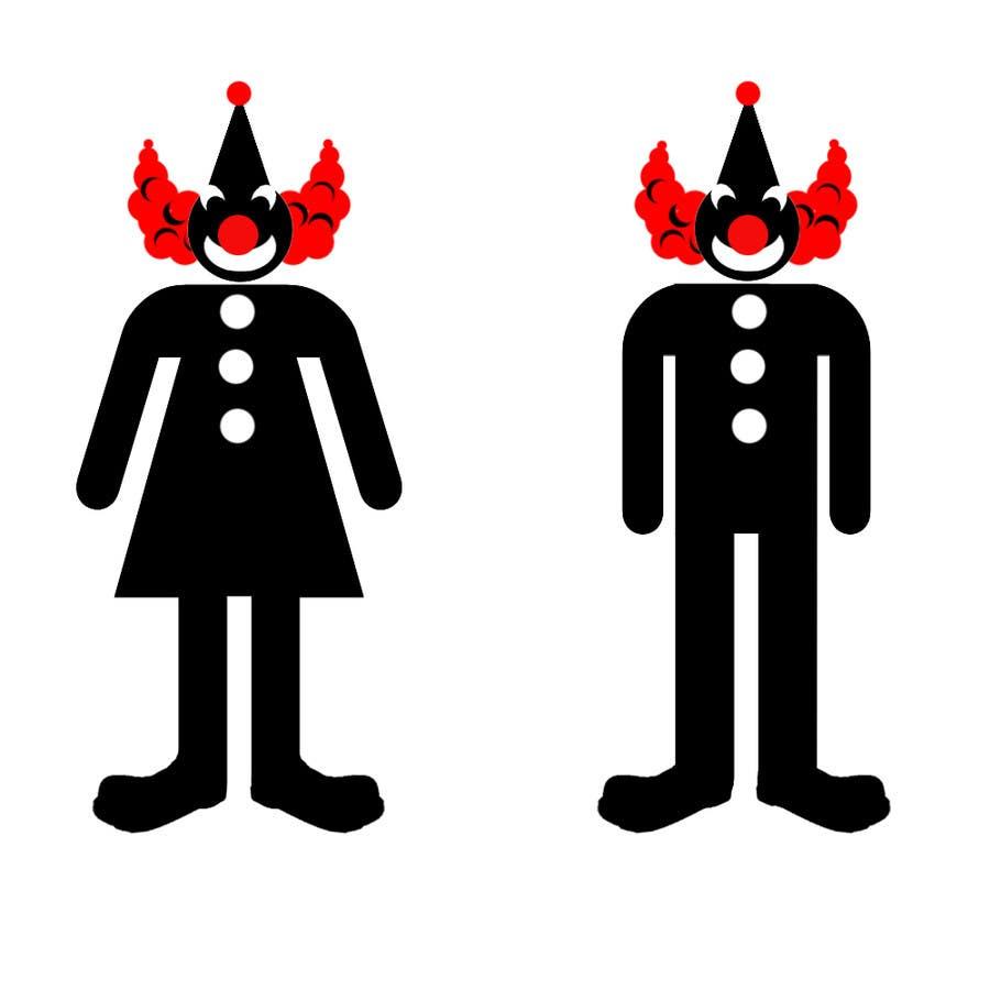 Proposition n°18 du concours Minimalistic clown silhouette