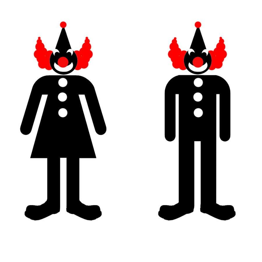 Proposition n°19 du concours Minimalistic clown silhouette