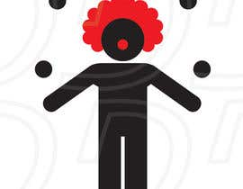 #13 for Minimalistic clown silhouette af ntandodlodlo