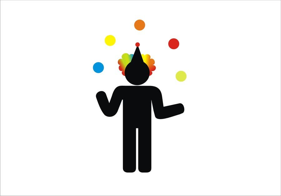 #5 for Minimalistic clown silhouette by rakhmakurnia