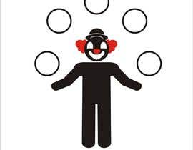 #7 for Minimalistic clown silhouette af mulyohastomo