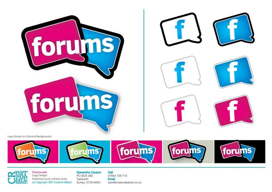 Kilpailutyö #                                        33                                      kilpailussa                                         Logo Design for Forums.com