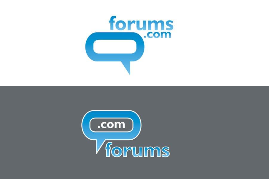 Kilpailutyö #86 kilpailussa Logo Design for Forums.com