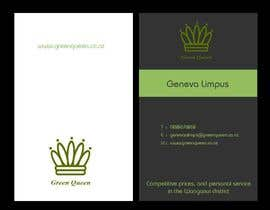#64 for Design some Business Cards for Green Queen by mogharitesh