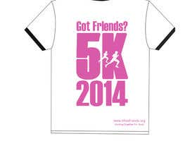 "Nro 14 kilpailuun 2014 Lillie's Friends ""Got Friends?"" 5K Race Shirt Design käyttäjältä dipakart"