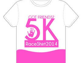"#10 para 2014 Lillie's Friends ""Got Friends?"" 5K Race Shirt Design por issamelyazidi"