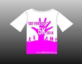 """#7 for 2014 Lillie's Friends """"Got Friends?"""" 5K Race Shirt Design by izzrayyannafiz"""