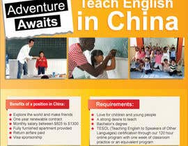 "nº 26 pour Design a Flyer: ""Adventure Awaits - Teach English in China"" par dindinlx"
