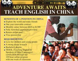 "nº 55 pour Design a Flyer: ""Adventure Awaits - Teach English in China"" par amcgabeykoon"