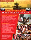 "Contest Entry #56 for Design a Flyer: ""Adventure Awaits - Teach English in China"""