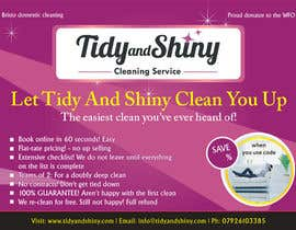 #12 untuk Design a Flyer for Tidy and Shiny (cleaning company) oleh infoYesDesign