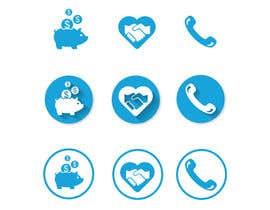 Nro 59 kilpailuun 3 Icons for Charity Website käyttäjältä luutrongtin89