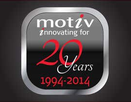 #67 para Design a Logo for 20th Anniversary of Motiv por dirak696