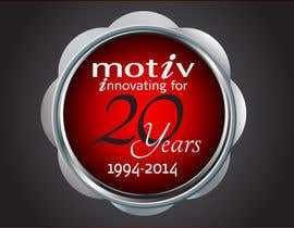 #71 para Design a Logo for 20th Anniversary of Motiv por dirak696