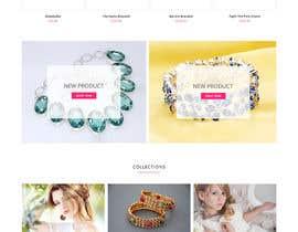 Nro 53 kilpailuun Design the fashion jewelry website mockup käyttäjältä matthewfariz