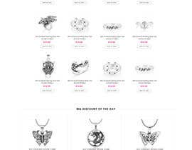 Nro 67 kilpailuun Design the fashion jewelry website mockup käyttäjältä styleworksstudio