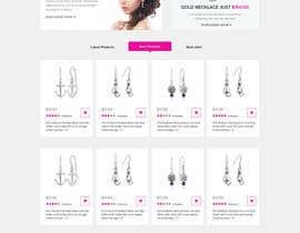 adixsoft tarafından Design the fashion jewelry website mockup için no 4