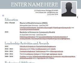 Nro 7 kilpailuun Easy to use - Word template for Resume käyttäjältä kolindozadrima