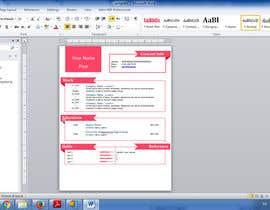 Nro 11 kilpailuun Easy to use - Word template for Resume käyttäjältä Bshah7