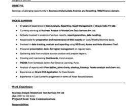 Nro 15 kilpailuun Easy to use - Word template for Resume käyttäjältä dabfreelancer