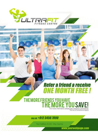Penyertaan Peraduan #4 untuk Design a Poster for Gym Program