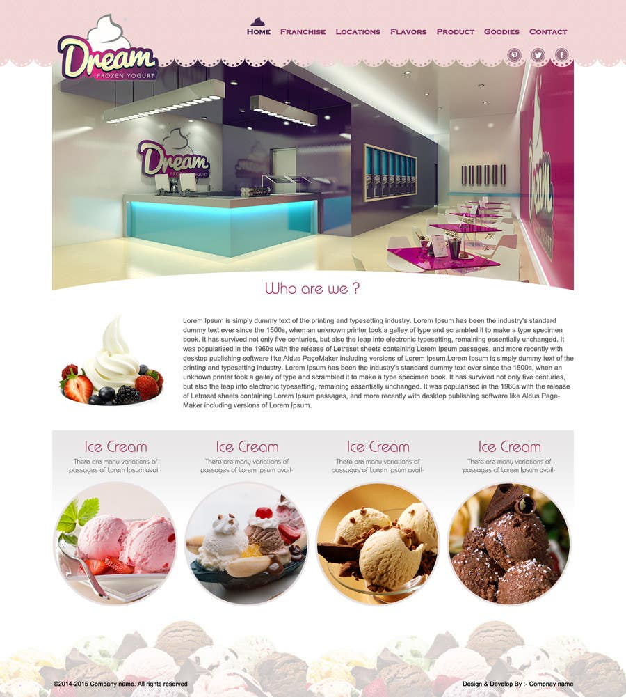 #37 for Yogurt website Home page by Patelasmi