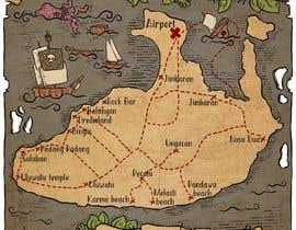 Nro 3 kilpailuun Illustrated Pirate's map of our Local Area käyttäjältä zitabanyai