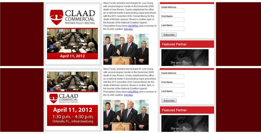 Inscrição nº 36 do Concurso para Banner Ad Design for Center for Lawful Access and Abuse Deterrence (CLAAD)