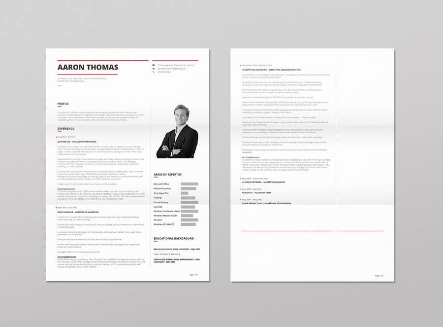 Kilpailutyö #16 kilpailussa convert my resume to an eye catching graphic resume