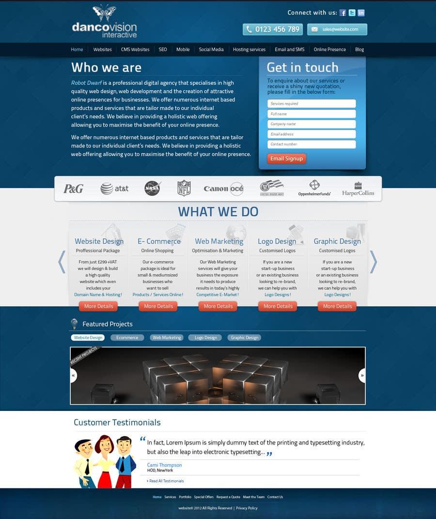 Design a Website Mockup for a Web Design Agency için 1 numaralı Yarışma Girdisi