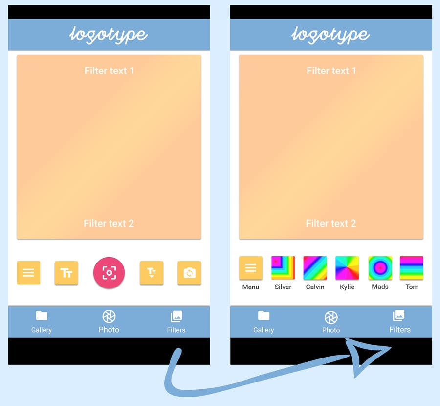 Entry 10 By Maryanakons For Design An Android App Layout Color Concept 6 2 Icons Freelancer