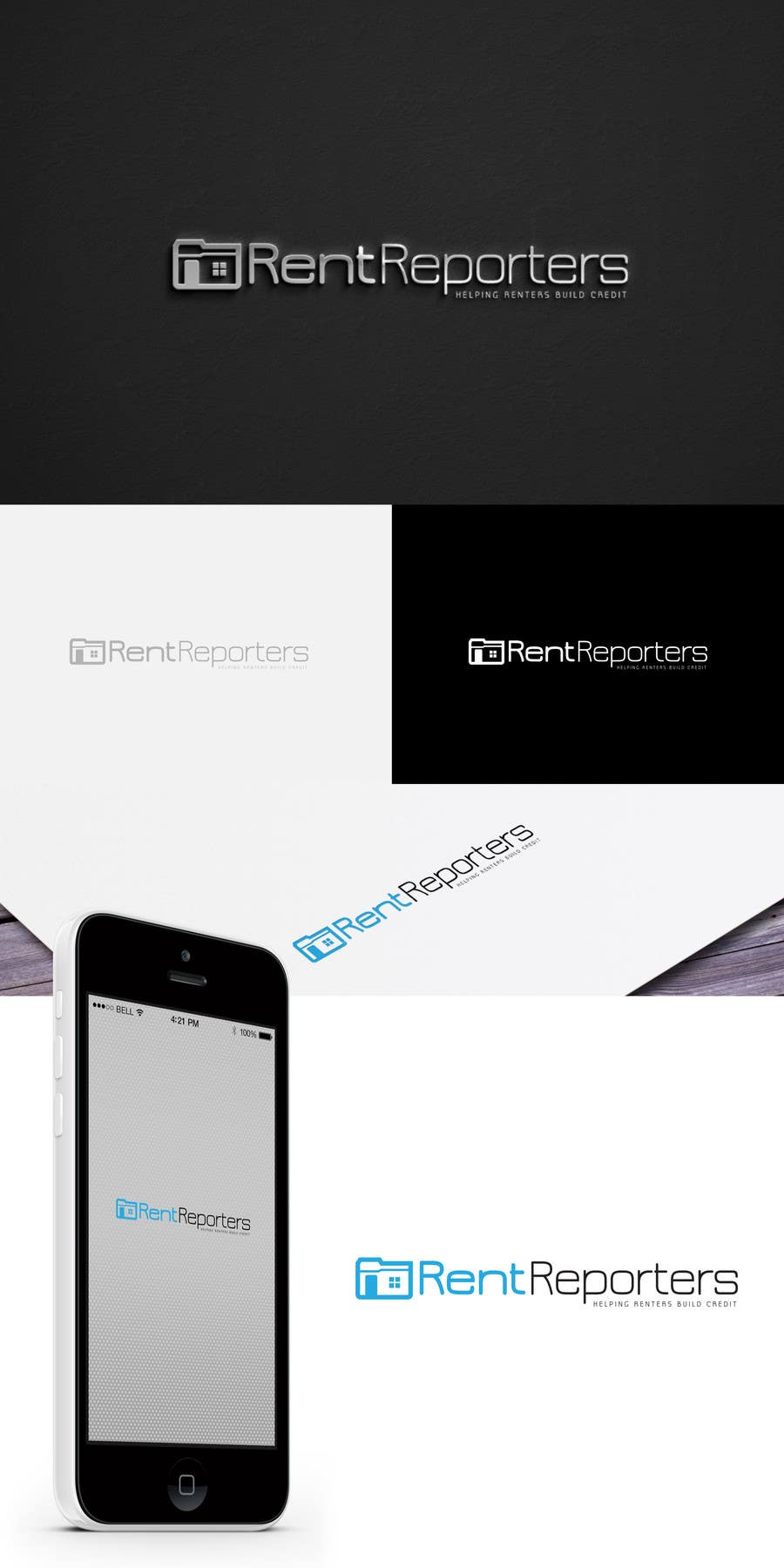 #51 for Design a Logo for RentReporters by Blissikins
