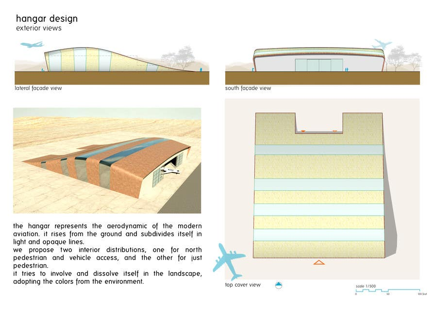 #7 for Hangar Building Concept Design by redlampdesign