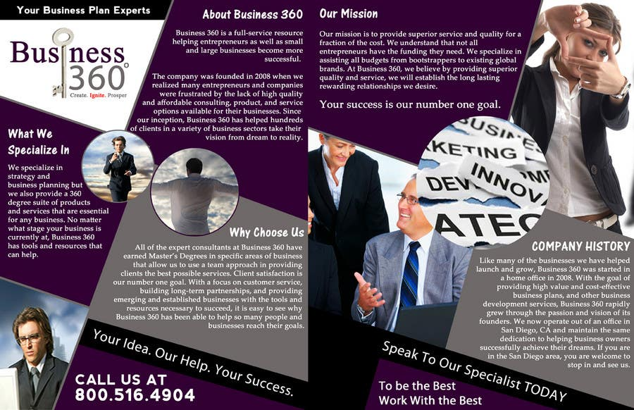 #8 for Brochure Design for Business 360 LLC by creationz2011