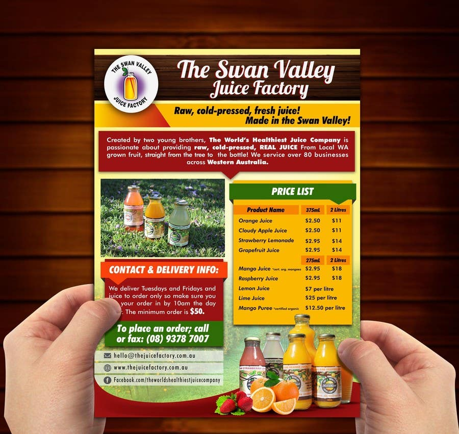 #10 for Design a Flyer for Juice Company by ushansam12
