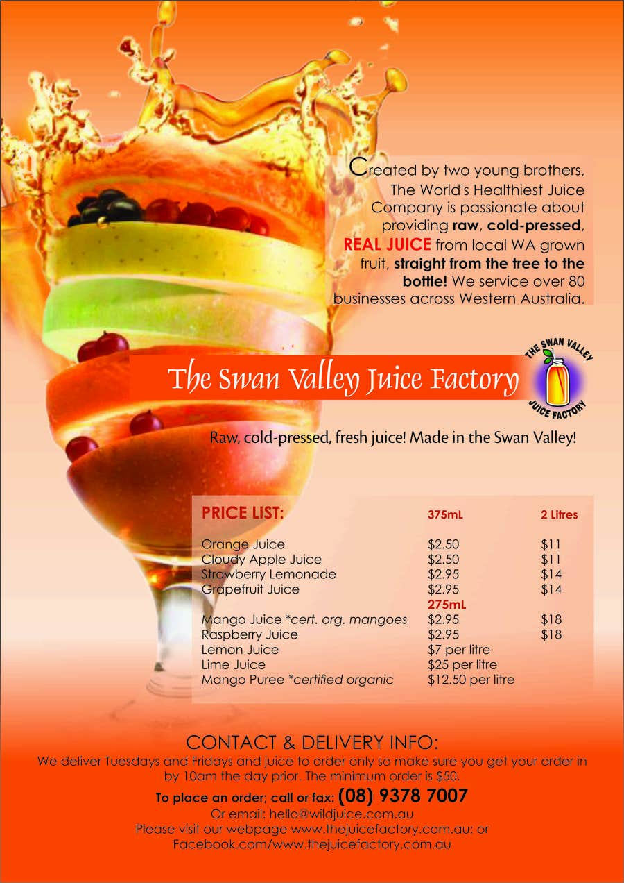 #12 for Design a Flyer for Juice Company by webcloud9