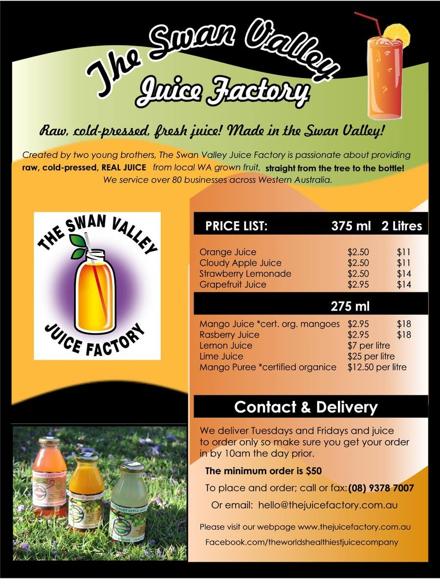 #5 for Design a Flyer for Juice Company by moniqueschlorf