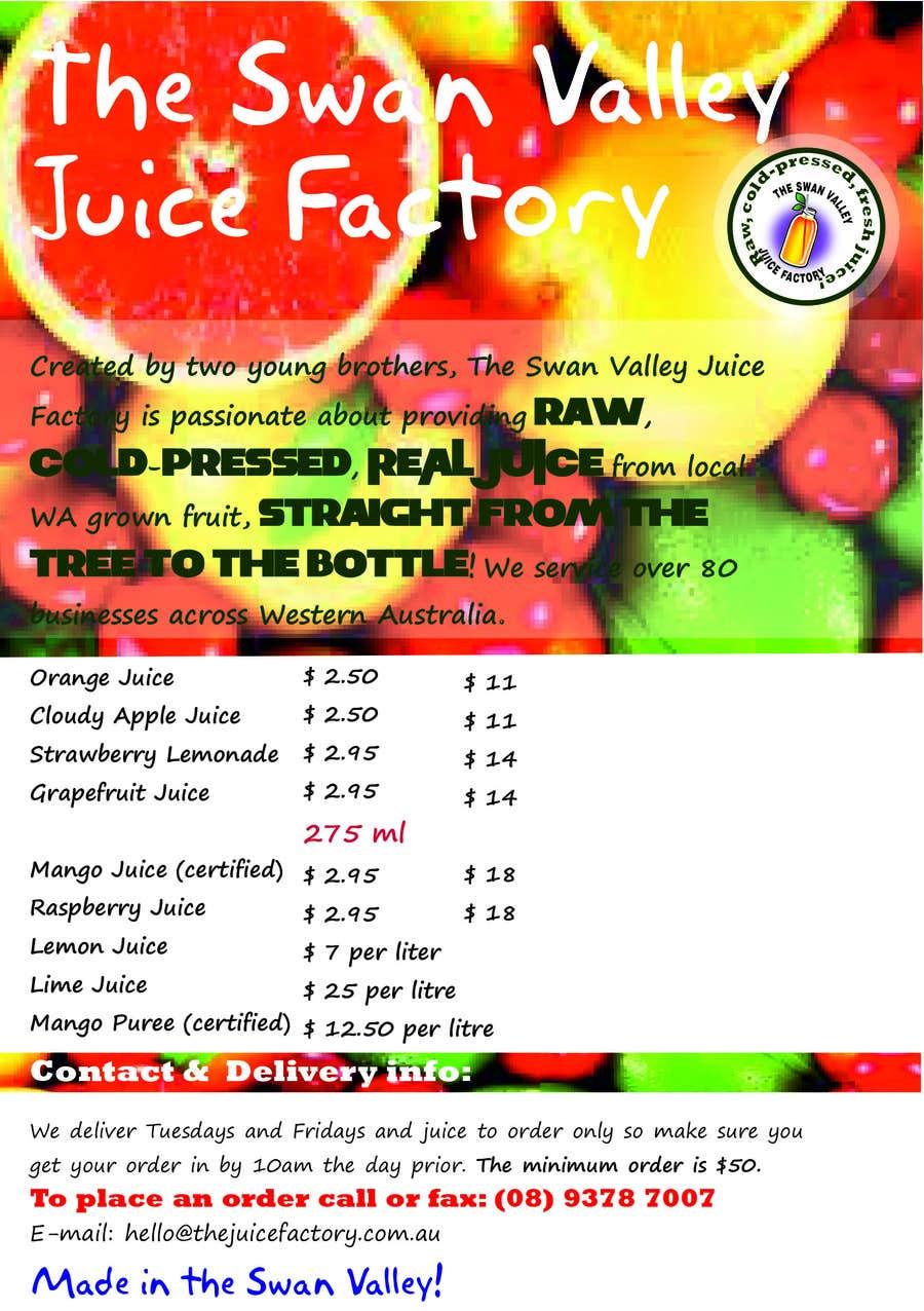 #18 for Design a Flyer for Juice Company by Tarantinka