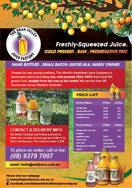 #16 for Design a Flyer for Juice Company by AchiverDesigner
