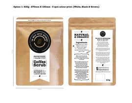 Nro 12 kilpailuun Design Packaging for a coffee body scrub  Front & Rear käyttäjältä christinestrydom