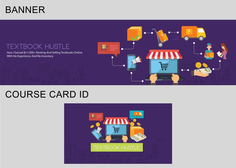 Kilpailutyö #6 kilpailussa Design a Banner And Smaller Course ID Card For My Online Course