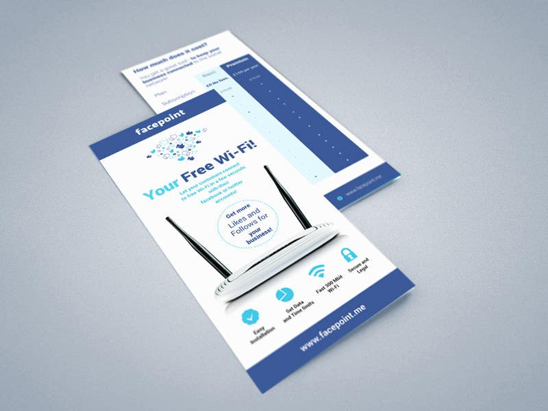 #24 for Design a Flyer for Facepoint Social Wi-Fi Router by aleksejspasibo