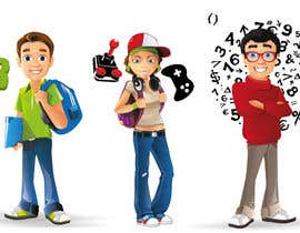 abdellahboumlik tarafından Design 3 Kids Characters for a mobile splash screen için no 10