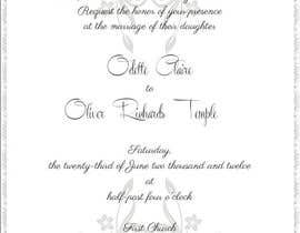 nº 23 pour ***VERY EASY** Design wedding invitations par saliyachaminda