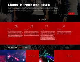 PervizHebibli tarafından Bold-Dynamic-Creative Website Mockup Design For Karaoke Business That Pops For WordPress or PHP için no 26