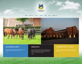 nº 15 pour Design a Website Mockup for Horse Stable par Macroads