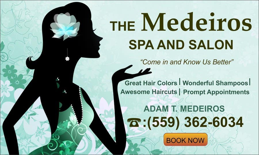 #149 for Design a Banner for a Salon and Spa by mansiartist1