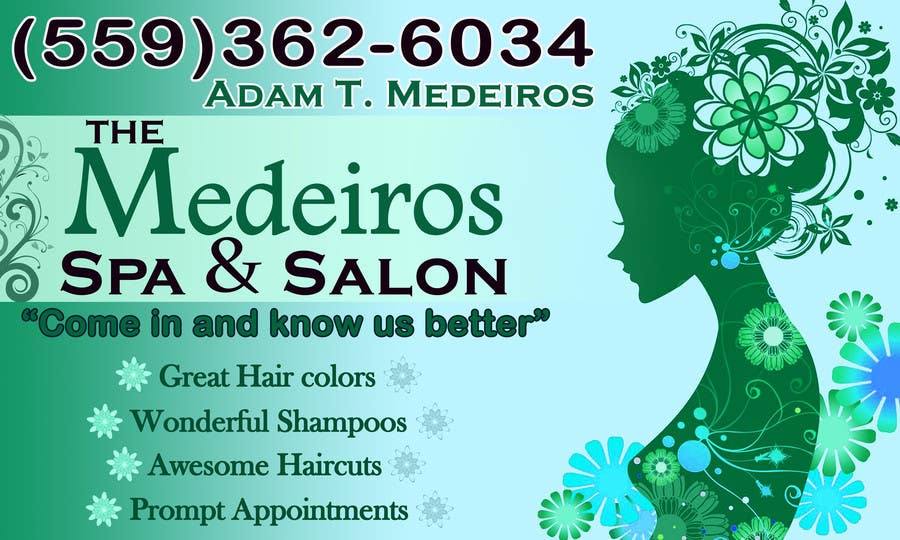 #116 for Design a Banner for a Salon and Spa by akritidas21
